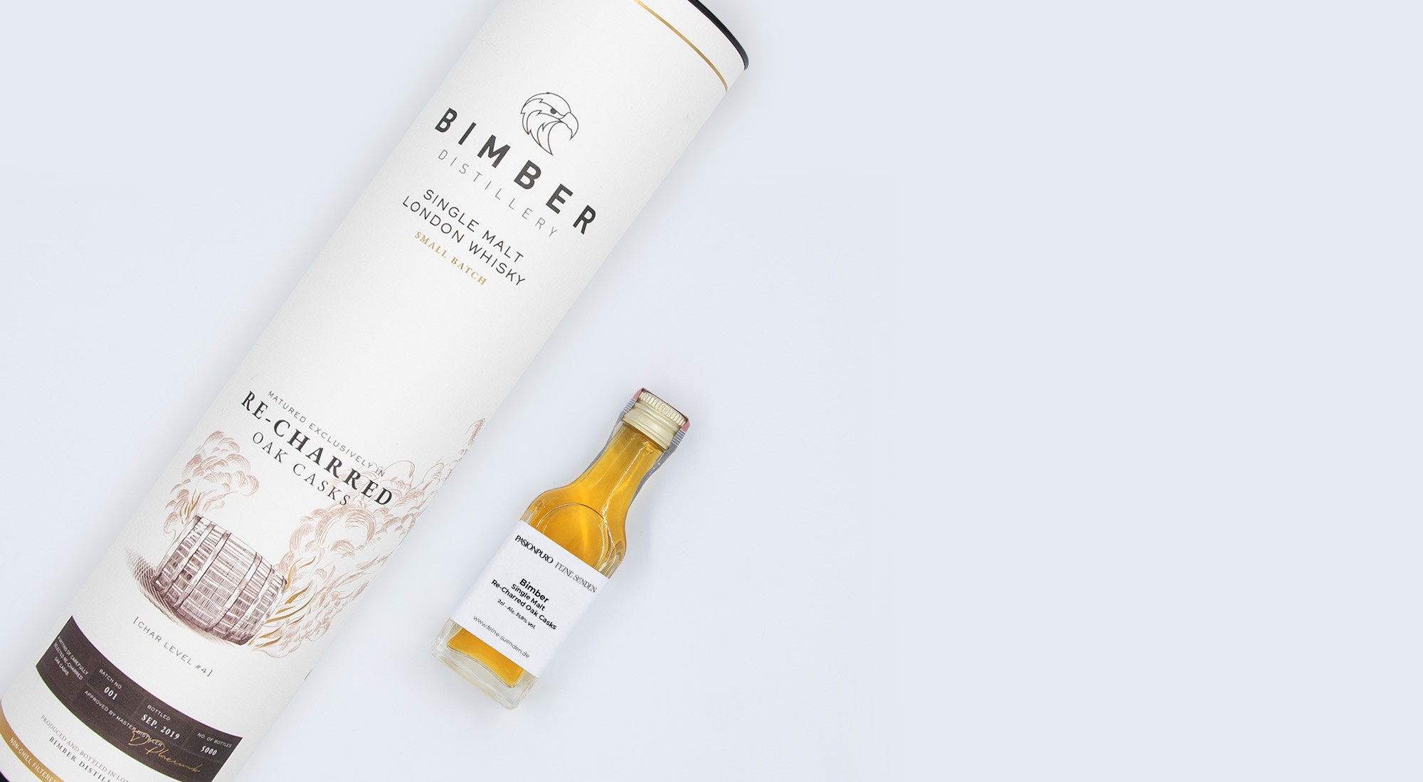 Bimber Single Malt Re-Charred Oak Casks – 0,02l